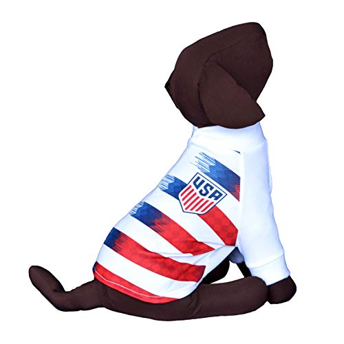 USA Soccer Team Dog T-Shirt Dog Shirt Dog Jersey Futbol Soccer Qatar Worldcup (M)