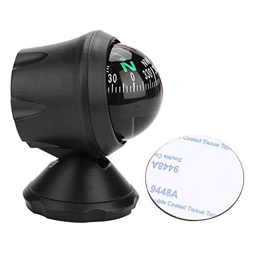 WolfGo Bootskompass-Schwarz Elektronisch Einstellbarer Militär-Marineball-Nachtkompass für Bootsfahrzeuge