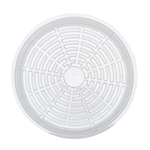 Life Solutions Products - Clear Plastic Plant Pot Saucer Drip Trays - 5 Pack - 30 cm / 12 inch