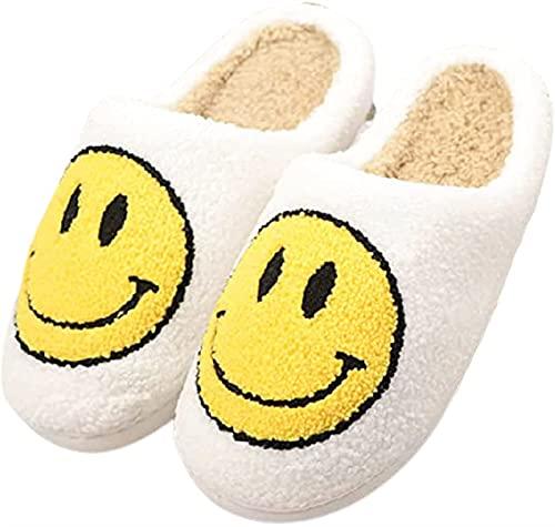 GYYlucky Zapatillas Mujer Hombre Zapatillas de Felpa Zapatillas cálidas de Invierno Zapatos Planos Suaves y cómodos Antideslizantes al Aire Libre/Interior (Color : White, Size : 38/39EU)