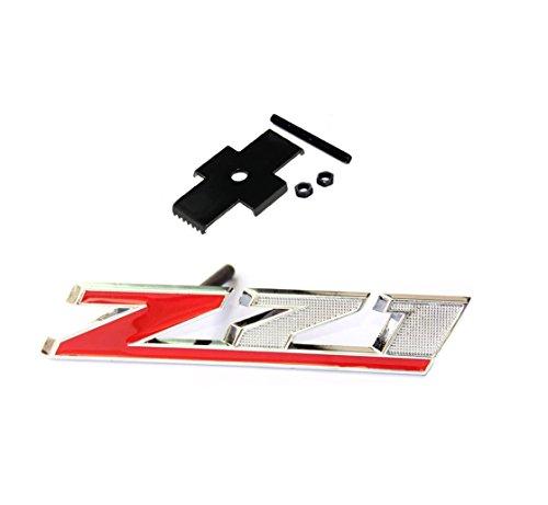 Yoaoo 1x OEM Red Grille Z71 Emblem Badge for Gm Silverado 2500Hd 3500Hd Sierra Tahoe Chrome