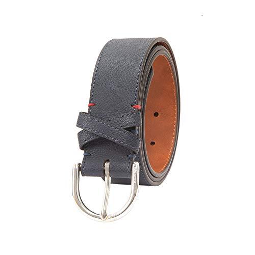 Tommy Hilfiger Women's 100% Leather Fashion Belt, Navy, X-Large