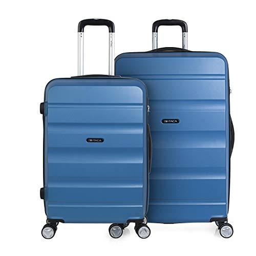 ITACA - Juego de Dos Maletas de Viaje Mediana y Grande T71616, Color Azul