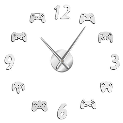 Wandklok   Large Wall Clock Game Decoration Modern Design Without Freamless Wall Clock Game Boys E-Sports Wall Clock