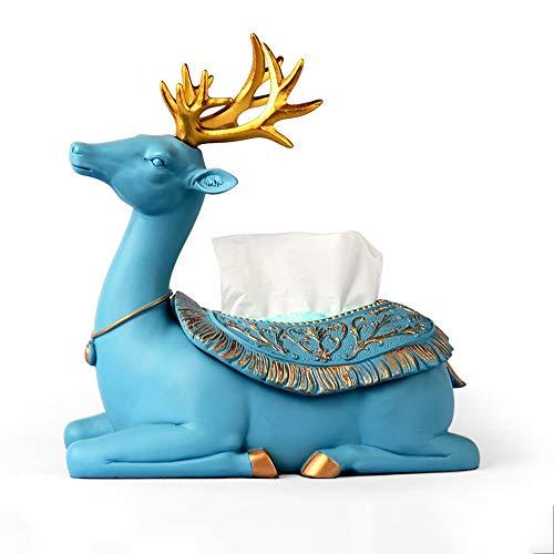 Europese creatieve tissue doos papier handdoek houder prachtige hars hert decoratieve ornamenten individuele servet houder boek doos voor koffie tafel woonkamer eetkamer