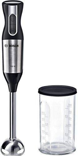 Bosch ErgoMixx Style–Stabmixer, 750W, Drehzahlregler und Turbofunktion, Kuppel mit vier Klingen Ohne Zubehör
