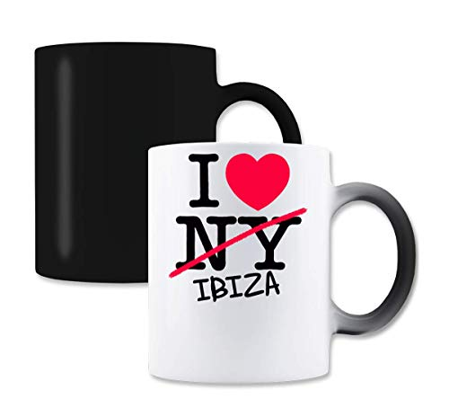 I Love Ibiza Spain magische kleur die thee-koffiemok verandert