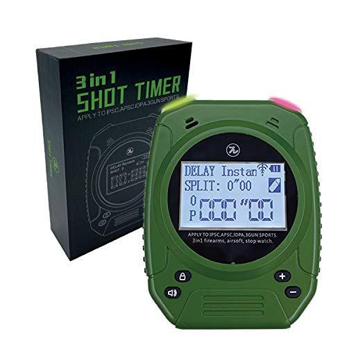 SPECIAL PIE Shot Timer - Shooting Timer for Firearms Airsoft Stop Watch Perfect for Pistols Rifle Dry Fire in USPSA, IPSC, APSC, IDPA, 3 GUN, Steel Challenge Competition Timer (Green)