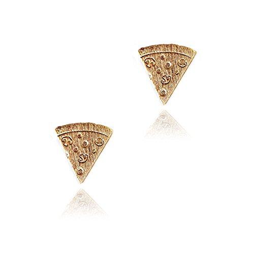 Joji Boutique Mini Golden Pizza Slice Post Earrings