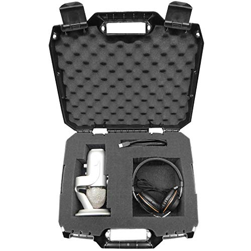 Casematix USB Microphone Hard Case Compatible with HyperX QuadCast, Blue Yeti X Computer Mic, Razer Seiren X, Samson G-Track Pro and Other Recording/Gaming Accessories