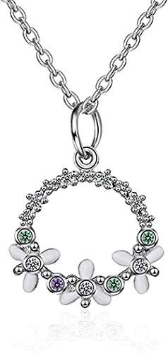 YOUZYHG co.,ltd Collar Collar de Guirnalda Redonda Collar de circonita Dulce para Mujer Chica Giftnecklace para Mujeres Hombres Regalos