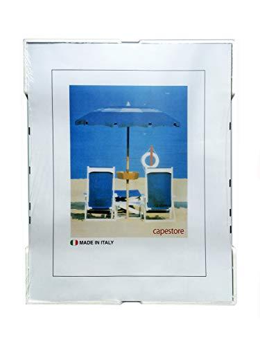 capestore A4 Cornice a Giorno 21x29,7 cm in Crilex Antinfortunistico, Ultra- Trasparente e Leggero - Cornici A4