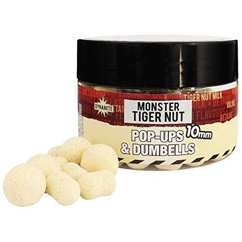 DYNAMITE BAITS Boilies Monster Tiger Nut White Fluro Pop-Ups & Dumbell 15 mm