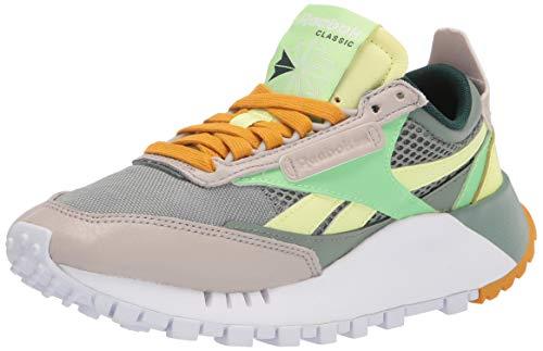 Reebok unisex adult Classic Legacy (Ree)cycle Sneaker, Harmony Green/Neon Mint/Sand Stone, 10 Women 8.5 Men US