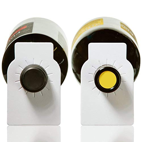 Wandeli Étiquettes de Bouteille de vin en Papier Blanc - Étiquettes de Cave à vin en Papier Ordinaire, 100 unités