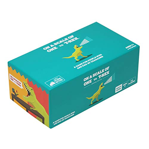 Product Image of the On a Scale of One to T-Rex: A Card Game for People Who Are Bad at Charades -...