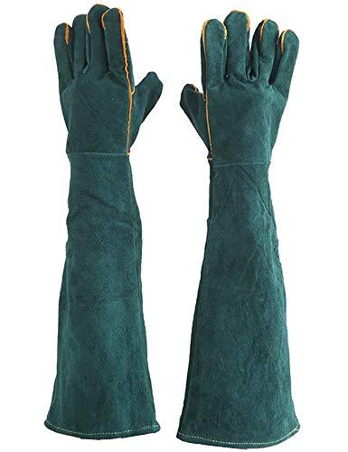 Ruosaren guantes anti-rascado de animales, cuero grueso, guantes para manejo de gatos, perros, pájaros, reptiles, mordeduras de serpientes para rascar