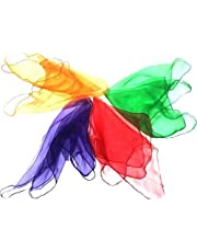 GSI AZO Free Lightweight Juggling Scarves for Kids Magicians Kindergarten and Fitness - 26 x 26 inches (Pack of 12)