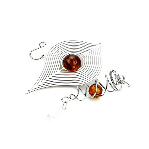 3D Windspiel Bernstein mit Kugelspirale - 4