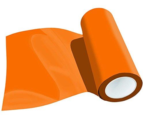 Poli-Flex Premium Flexfolie Meterware 30,5cm 41 Farben Textil-Bügelfolie, Farbe:415 ORANGE