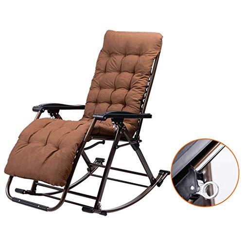 JUANSHUAI Silla de ocio para el hogar Mecedoras Presidente Cojines de jardín plegable Salón Sillas Tumbona reclinable - silla plegable reclinable Relajante silla del ocio al aire libre Jardín s