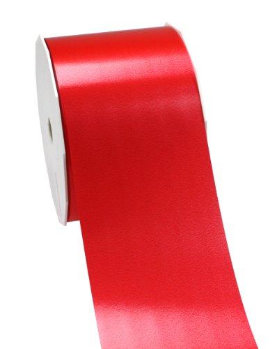 C.E. PATTBERG Geschenkband rot,  91 Meter Ringelband 90 mm zum Basteln,  Dekorieren & Verpacken von Geschenken  zu jedem Anlass