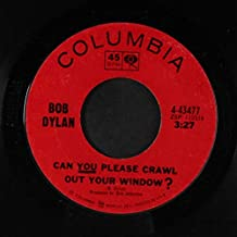 can you please crawl out your window? / highway 61 revisited 45 rpm single