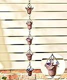 Cadena decorativa de lluvia de pájaros de hierro