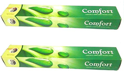 Comfort Mosquito Repellent Incense Sticks (1 box = 120 lemon grass sticks+10 ozone fresh sticks) by Dhoop Chaon and Co.