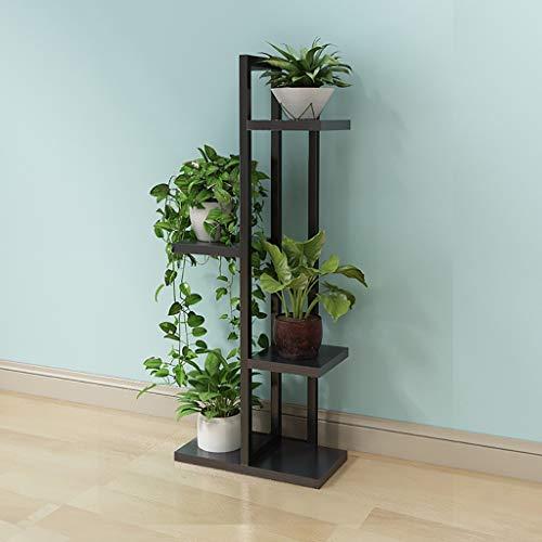Balcon voyantes Étagère pour fleurs salon chambre stand de fleurs 4/5/6 couche stand de fleurs intérieur noir Plantes d'extérieur Présentoir (taille : 40 * 20 * 92cm)