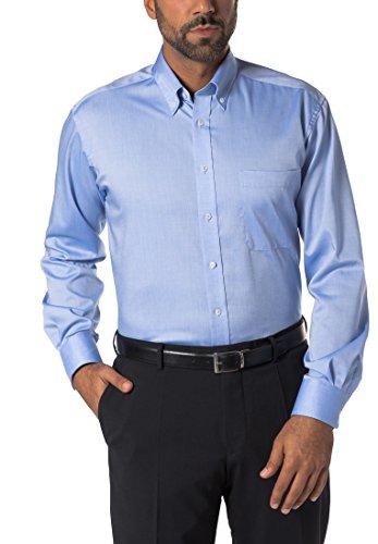 eterna Comfort Fit Hemd extra Langer Arm Oxford Mittelblau Größe 43