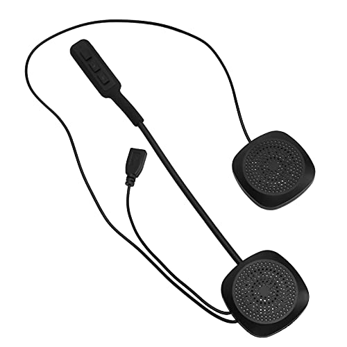 PUSOKEI Auriculares para Casco de Motocicleta, Altavoces estéreo inalámbricos Bluetooth5.0 para Casco con Llamadas Manos Libres, Auriculares con reducción de Ruido para Cascos