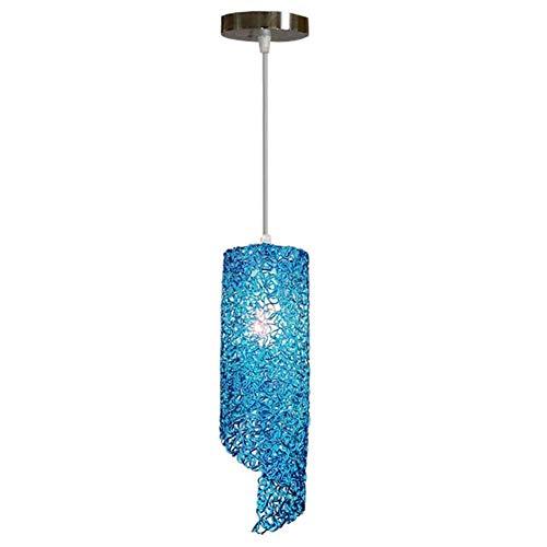 LLT Techo de la Sala Lámpara Colgante de Varios Colores Opcionales Pendiente de la Luz Nórdica Creativa Hecha a Mano E27 Hierro Rattan Pantallas de Iluminación de la Lámpara Aluminio Salón Dormitorio