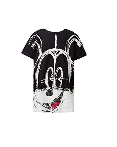 Desigual Paris Camiseta 18wgtkx5, Negro, 7/8
