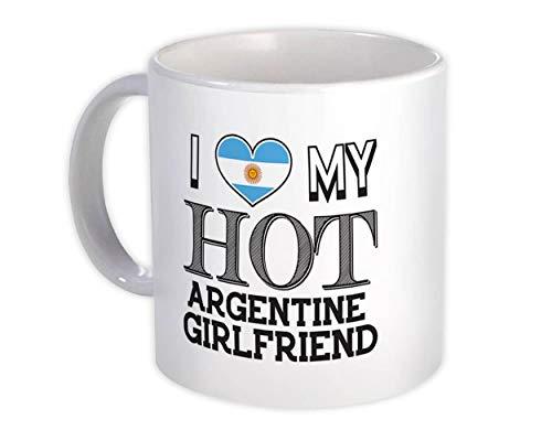 Amo la mia calda ragazza argentina : Regalo Tazza : San Valentino Paese Bandiera Argentina