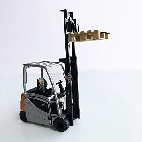 Vehículo de construcción Simulación De Aleación 1:25 Escala Still Rx20-20 Carretilla Elevadora Modelo De Coche Apilador De Metal Vehículo De Ingeniería para Colección Escena Estática