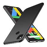 Google pixel 4a ケース SHINEZONE pixel4a レンズ保護 耐衝撃 指紋防止 超薄型 超耐磨 軽量 Google pixel 4a スマートフォンケース (Google pixel 4aケース ブラック)