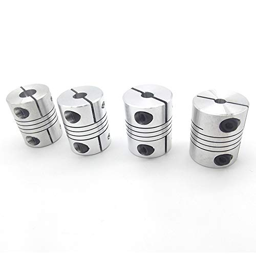 XBaofu 4PCS 5x5mm D25L30 5 mm Impresora de Aluminio Z Eje Flexible Acoplamiento for Motor de Pasos del acoplador órganos de Acoplamiento 3D de Piezas de Accesorios