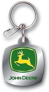 Plasticolor John Deere Logo Enamel Key Chain