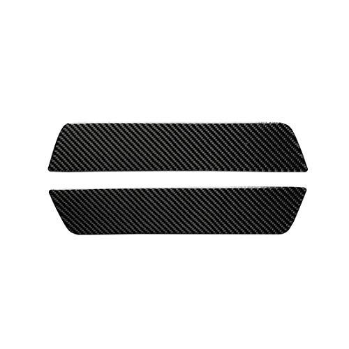 Auto Buitenkant Stickers Koolstofvezel Auto Achterdeur Drempel Decoratieve Sticker, voor Tesla Model 3 (2 PCS)