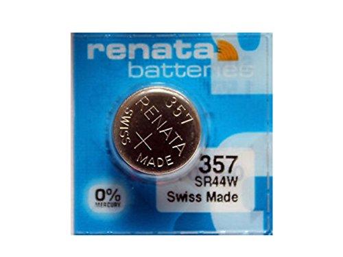Renata Batteries 357 Silver Oxide 0% Mercury Battery (5 Pack)