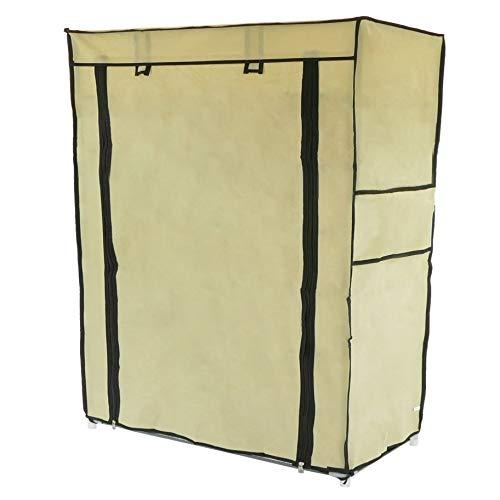 PrimeMatik Armadio Guardaroba E scarpiera in Tessuto Rimovibile 60x 30x 76cm Beige con Porta avvolgibile (dx072), 60X 30X 76