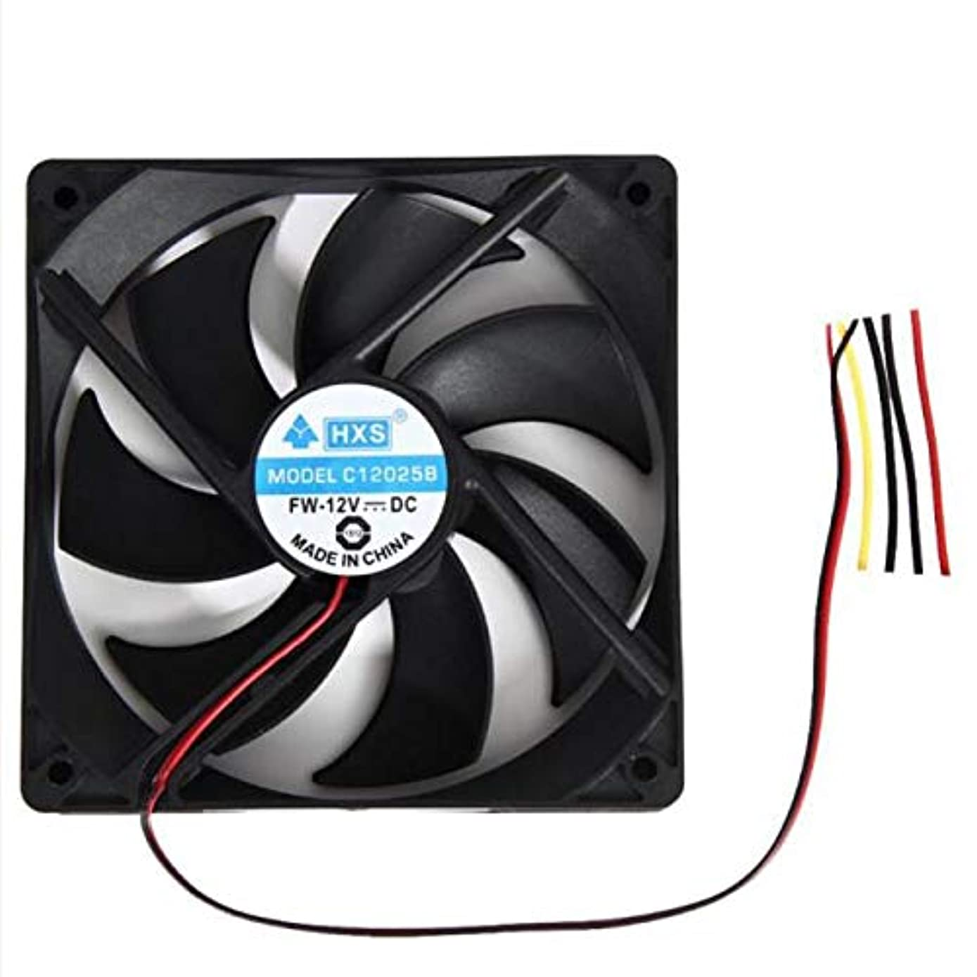 GOVOW-Tech 1pcs 120mm 120x25mm 12V 4Pin DC Brushless PC Computer Case Cooling Fan 1800PRM- High Tensile Strength - Innovative Design