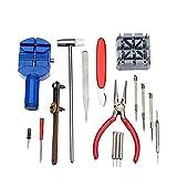 Salmue 16 Pcs Kit de Reparación de Relojes, Kit relojero Destornillador Herramienta Profesional de reparación de Reloj de reparación de Herramientas