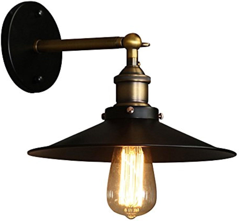 Meetyou Retro Edison Schmiedeeiserne Wand Lampe Amerikanische Land Zimmer-Studie Zimmer Lampe Simple Aisle Balkon Lampe Horn Wand Lampe,S