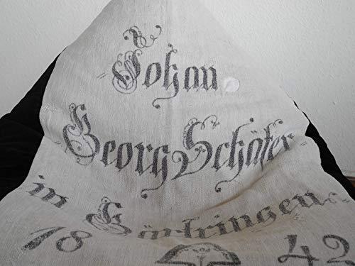 Sitzsack ANNO 1842 aus Sackleinen und Baumwollsamt