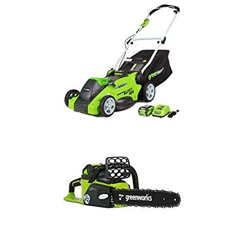 Greenworks 16-Inch 40V Cordless Lawn Mower with 16-Inch 40V Cordless Chainsaw Battery Not Included 20322 -  Sunrise Global Marketing, LLC