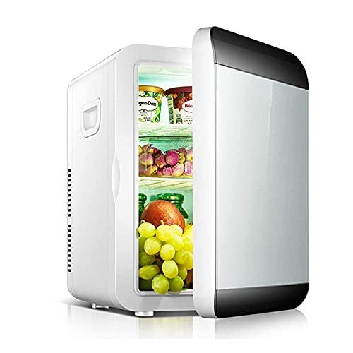 SHKUU Mini refrigerador Coche 13,5 l, congelador Pecho, hogar Coche, Uso Doble, refrigeración, Calor, pequeño refrigerador para Cuidado Piel, para dormitorios, Oficina, Garaje, Caravana, sótano