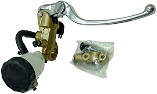 Shindy 17-658G Gold/Silver Radial Master Cylinder Brake Kit for Daytona Nissin with 19mm Piston