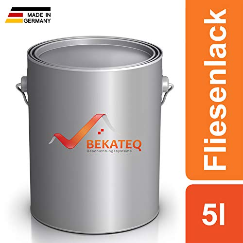 BEKATEQ Fliesenlack BE-713 Fliesenfarbe Wandfliesen Bodenfliesen - Grün - 5l